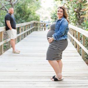 Dresses & Skirts - Maternity Bodycon Dress -PLUS